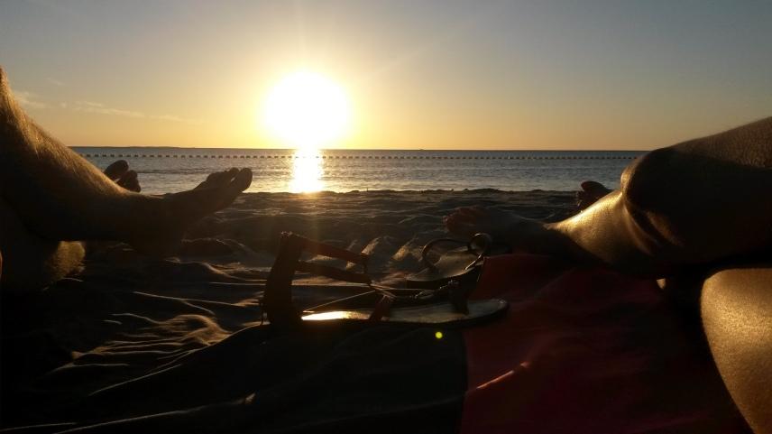 Coucher de soleil à Coogee Beach