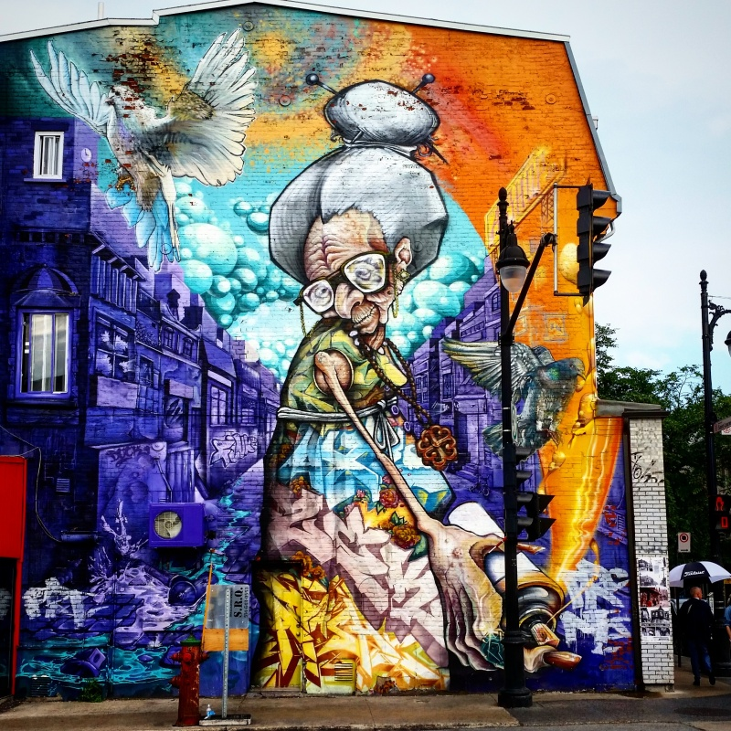 Street art à Montréal et ses murales