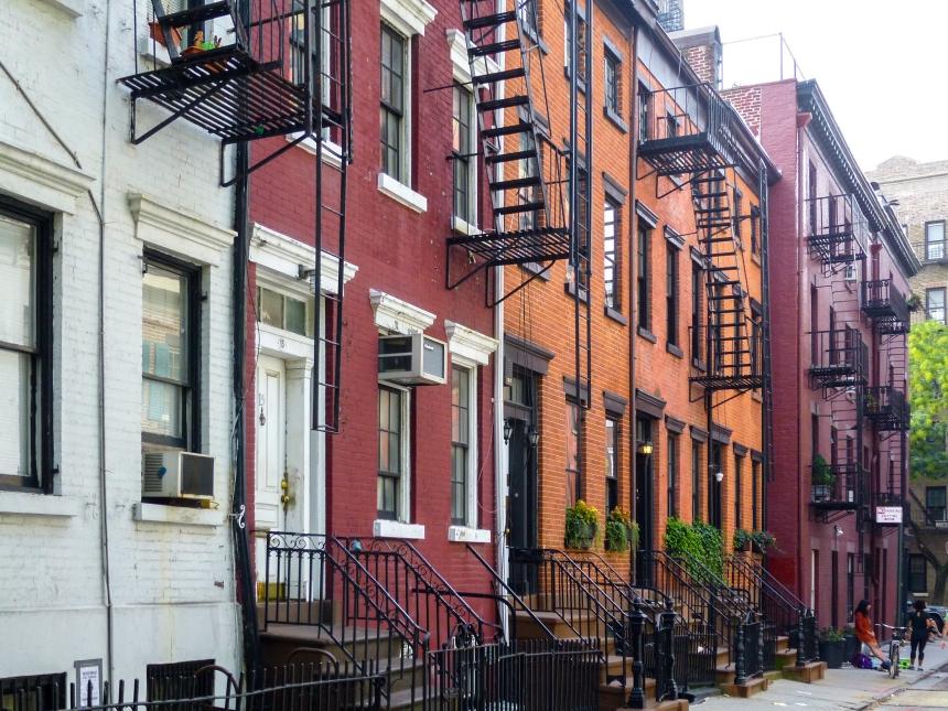 Quartier typique de Greenwich Village à Manhattan