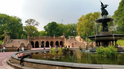 Fontaine à Central Parc