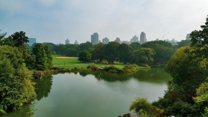 Vue sur la ville depuis Central Parc