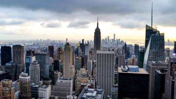 Vue de Manhattan depuis le Rockfeller Building à New York