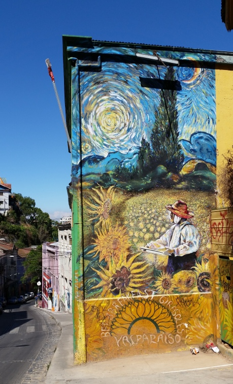 Street art à Valparaiso au Chili